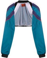 Colville Sleeve Design Bomber Jacket - Blue