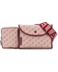 Stella McCartney Monogram Canvas Belt Bag - Pink