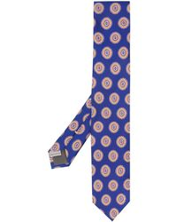Canali Micro-pattern Tie - Blue