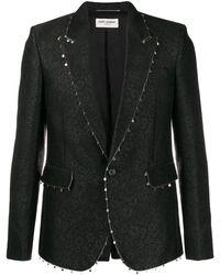 Saint Laurent Декорированный Пиджак - Черный