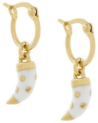 Aurelie Bidermann - Tooth Detail Earrings - Lyst
