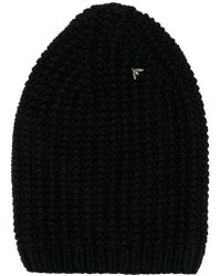 896fc031b Lyst - Gucci Bee Embroidered Ribbed Bobble Hat In Navy in Blue for Men