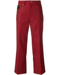 Marc Jacobs Checked Cropped Trousers - Zwart