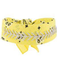 Fallon - Jewel Embellished Bandana Choker - Lyst