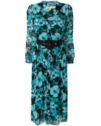 MICHAEL Michael Kors - Belted Floral-print Midi Dress - Lyst