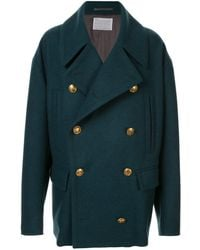 Kolor Double-breasted Fitted Coat - Green