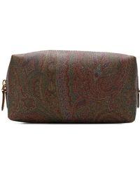 Etro Paisley Makeup Bag - Коричневый