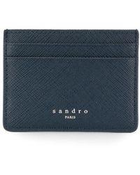 Sandro カードケース - ブルー
