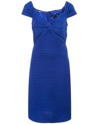 Tadashi Shoji - Fitted Ribbed Dress - Lyst