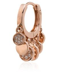 Jacquie Aiche - 14kt Rose Gold Hoop Earring - Lyst