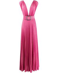 Elisabetta Franchi Vestido de fiesta plisado - Rosa