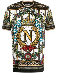 Dolce & Gabbana Футболка С Графичным Принтом - Белый