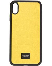 Dolce & Gabbana Чехол Для Iphone Xs Max С Логотипом - Желтый