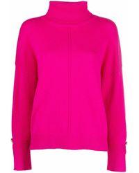 Liu Jo Button-detail Roll Neck Sweater - Pink