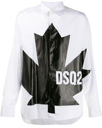 DSquared² - リーフプリント シャツ - Lyst