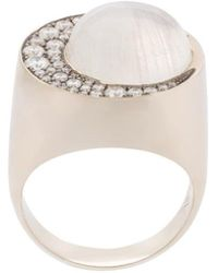 Noor Fares | Moonstone Eclipse Ring | Lyst