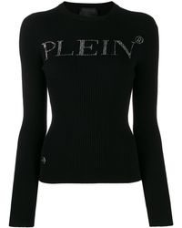 Philipp Plein - ラインストーンロゴ セーター - Lyst
