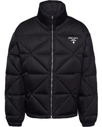 Prada Re-nylon パデッドジャケット - ブラック