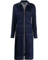 3x1 Multi-pocket Zip-up Denim Dress - Blue
