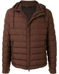 Ermenegildo Zegna Hooded Padded Jacket - Brown