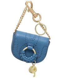 See By Chloé Hana Chain-strap Keyring - Blue