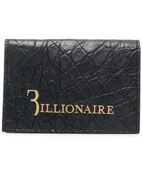 Billionaire 二つ折り財布 - ブラック