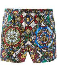 Dolce & Gabbana Zwembroek Met Print - Groen