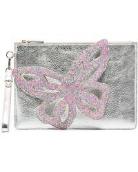 Sophia Webster Flossy Butterfly Clutch Bag - Metallic