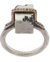 Tobias Wistisen 'Block Stones' Ring - Mettallic