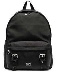 Versace Jeans Couture Рюкзак С Пряжками И Логотипом - Черный