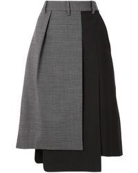 Tibi コントラストパネル スカート - ブラック
