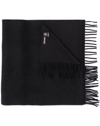 Tom Ford Logo-embroidered Fringed Scarf - Black