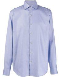BOSS Overhemd Met Micro-textuur - Blauw