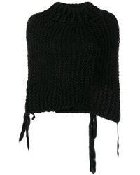 Masnada - Cropped Knit Jumper - Lyst