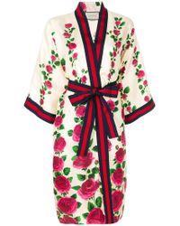 Gucci Rose Garden Silk Kimono - Multicolor