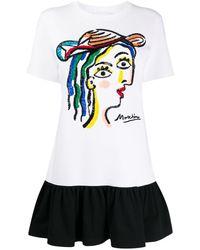 Moschino - T-shirt brodé de sequins - Lyst