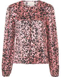 Laneus Рубашка С Леопардовым Принтом - Розовый