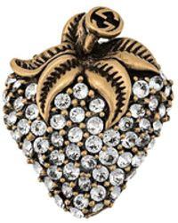 Gucci Spilla a forma di fragola - Metallizzato