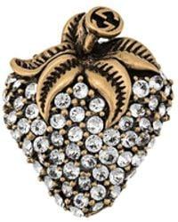 Gucci Kristallen Broche - Metallic