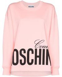 Moschino Sweatshirt mit Logo - Pink
