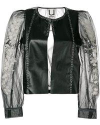 Aviu - Sheer-sleeve Biker Jacket - Lyst