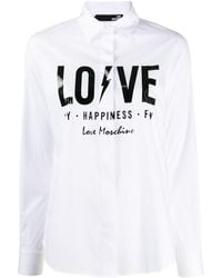 Love Moschino - スローガン シャツ - Lyst
