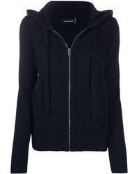 Zadig & Voltaire Star-patch Cashmere Hoodie - Blue