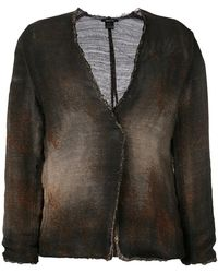 Avant Toi - Cross Body Overdyed Knitted Jacket - Lyst