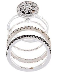 Wouters & Hendrix - Diamond Set Of 4 Rings - Lyst
