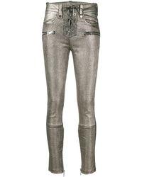 Manokhi Metallic Multi-pocket Trousers