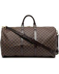 Louis Vuitton Дорожная Сумка Keepall 55 Bandouliere 2010-го Года - Коричневый