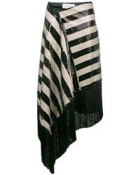 Marques'Almeida - Striped Sequin Skirt - Lyst