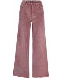 DIESEL Pantalones acampanados - Rosa