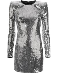DSquared² Sequinned Fitted Dress - Metallic